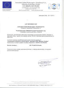 Referencje Jastrzębki Zakład Wodociagów i Kanalizacji