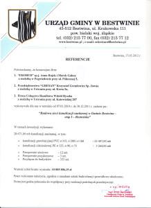 Referencje Urząd Gminy w Bestwinie